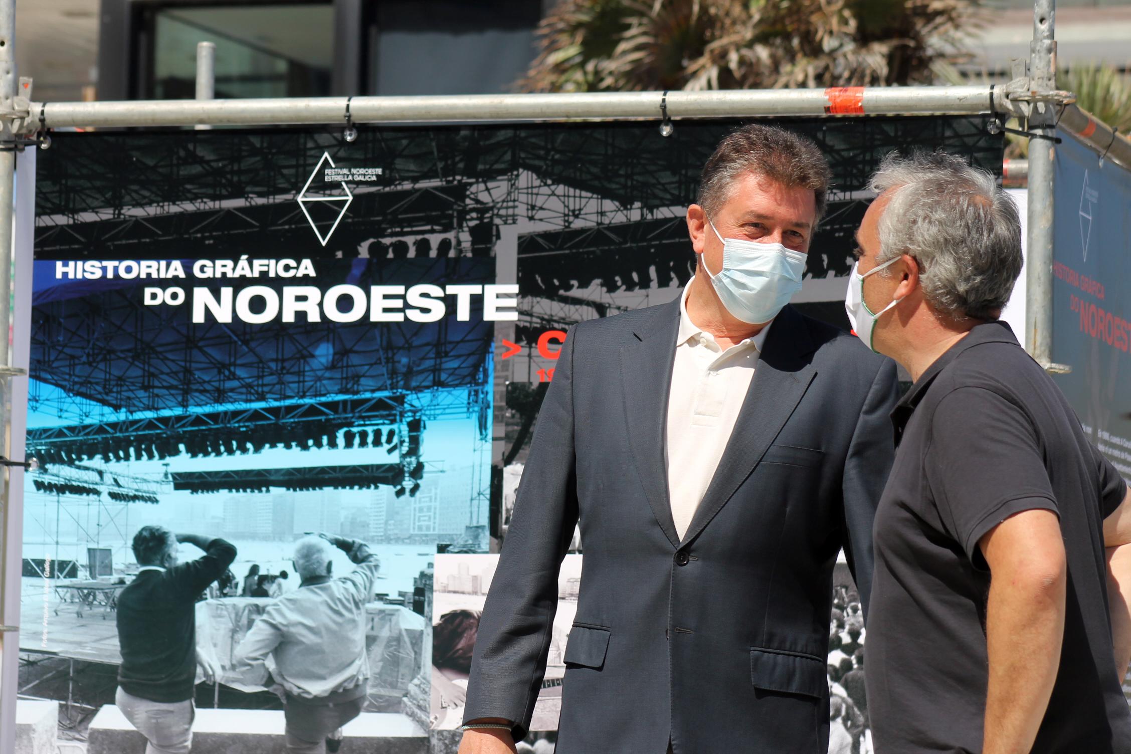 A 'Historia gráfica do Noroeste' Estrella Galicia recorre A Coruña