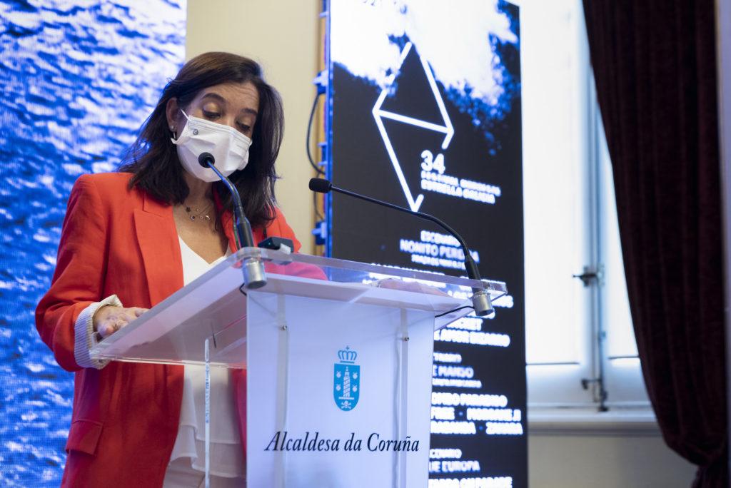 Inés Rey, alcaldesa da Coruña, na presentación da 34 edidición do Festival Noroeste Estrella Galicia 2021