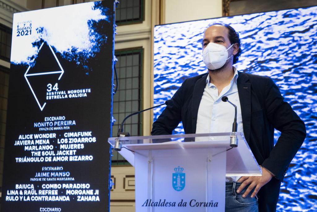 Antonio Viejo, director de Asuntos Corporativos de Corporación Hijos de Rivera, na presentación da 34 edidición do Festival Noroeste Estrella Galicia 2021